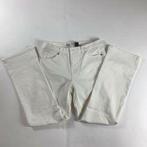 DG2 By Diane Gilman Womens Boot Cut Jeans White 8P